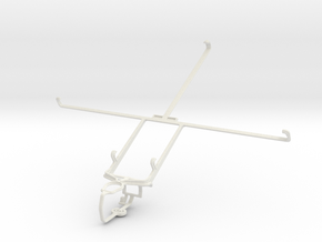 Controller mount for PS3 & Lenovo IdeaTab S6000H in White Natural Versatile Plastic
