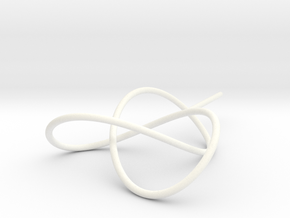 Trefoil Knot for Soap Experiments in White Processed Versatile Plastic