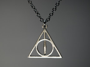 Deathly Hallows Pendant - Small - 5/8  in Stainless Steel
