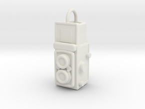 Twin-lens-pendant in White Natural Versatile Plastic