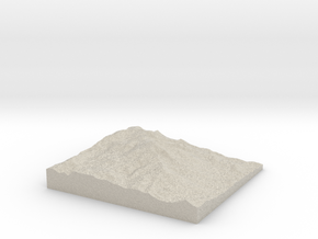 Model of Summit House in Sandstone