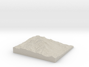 Model of Summit House in Natural Sandstone