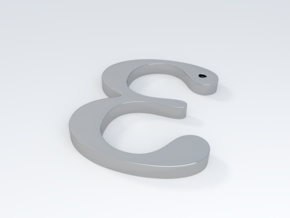 "The Greek Letter ""Epsilon"" in Metallic Plastic"