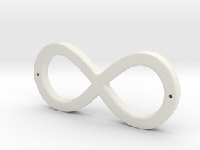 Infinity Sign in White Natural Versatile Plastic