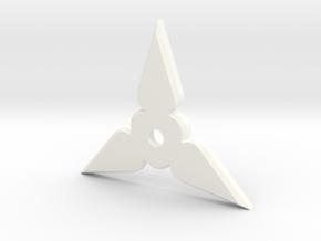Shuriken Pendant in White Strong & Flexible Polished