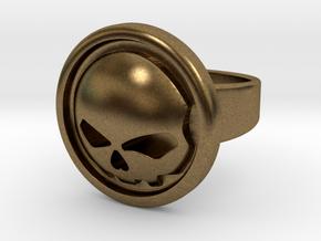 Harley Davidson Round Ring in Natural Bronze