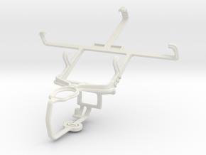 Controller mount for PS3 & LG Optimus L5 II E460 in White Natural Versatile Plastic