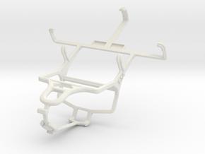 Controller mount for PS4 & LG Optimus L4 II Dual E in White Natural Versatile Plastic