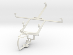 Controller mount for PS3 & LG Optimus Vu II F200 in White Natural Versatile Plastic