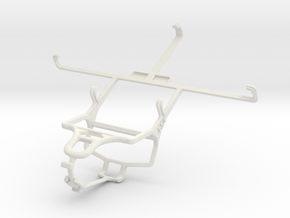 Controller mount for PS4 & Maxwest Orbit 6200 in White Natural Versatile Plastic