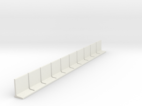 N Scale Retaining Wall 2000mm 10pc in White Strong & Flexible