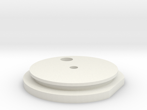 Main Endcaps Assem Left in White Natural Versatile Plastic