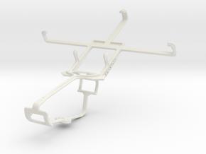 Controller mount for Xbox One & Motorola ATRIX HD  in White Natural Versatile Plastic