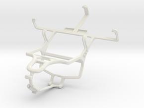 Controller mount for PS4 & Motorola DEFY XT XT556 in White Natural Versatile Plastic