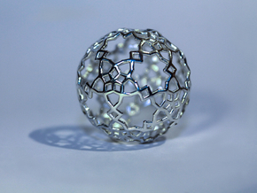 Sphere-132 in Fine Detail Polished Silver