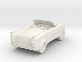 Lancer Car for 28/30mm wargaming retrofuturistic in White Natural Versatile Plastic