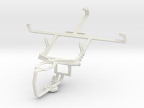 Controller mount for PS3 & Motorola RAZR M XT905 in White Natural Versatile Plastic