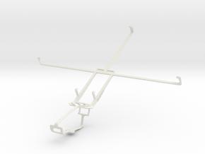 Controller mount for Xbox One & Motorola XOOM Medi in White Natural Versatile Plastic