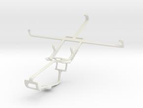 Controller mount for Xbox One & Nokia Lumia 1520 in White Natural Versatile Plastic