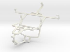 Controller mount for PS4 & Panasonic Eluga DL1 in White Natural Versatile Plastic