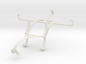 Controller mount for Xbox 360 & Panasonic Eluga Po in White Natural Versatile Plastic