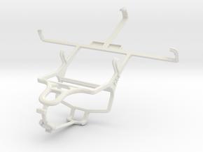 Controller mount for PS4 & Pantech Vega R3 IM-A850 in White Natural Versatile Plastic
