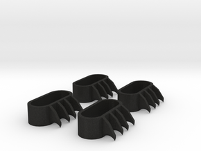 1:6 scale Claws in Black Acrylic