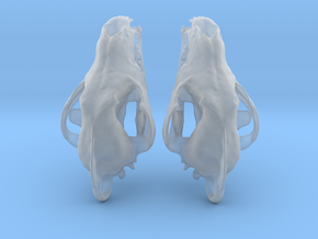 Wolf Skull Earrings in Smooth Fine Detail Plastic