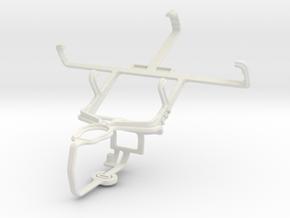 Controller mount for PS3 & Plum Capacity in White Natural Versatile Plastic