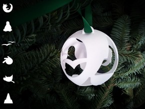 Open Source Christmas Ornament in White Natural Versatile Plastic