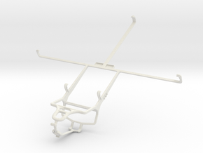 Controller mount for PS4 & Plum Ten 3G in White Natural Versatile Plastic