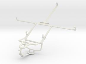 Controller mount for PS4 & Prestigio MultiPad 2 Pr in White Natural Versatile Plastic