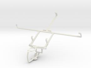 Controller mount for PS3 & Prestigio MultiPad 7.0  in White Natural Versatile Plastic