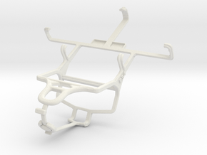Controller mount for PS4 & Samsung Galaxy Ace II X in White Natural Versatile Plastic