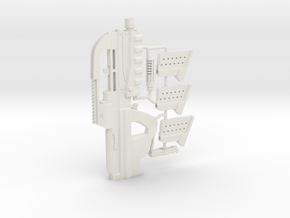 1:6 Scale Sci-Fi M Assault 5K carbine in White Natural Versatile Plastic