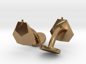 Asp mk II - Cufflinks (pair) in Natural Brass