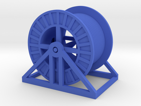 HO Steel Cable Reel (Full) in Blue Processed Versatile Plastic