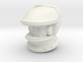 SF Astronaut Lunar Study / Helmet/Face / 1:24 /1:1 in White Natural Versatile Plastic: 1:24