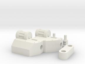 Single gun arm for walker in White Natural Versatile Plastic