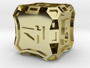 Large Premier Die6 in 18K Gold Plated