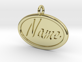 Oval Pet Tag / Pendant in 18K Gold Plated