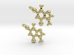 Theobromine Earrings in 18K Gold Plated