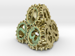 Static Gear Die (D4) in 18K Gold Plated