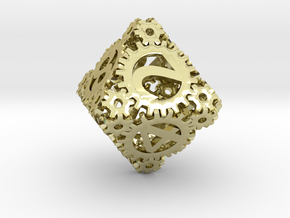 Static Gear (D8) in 18K Gold Plated