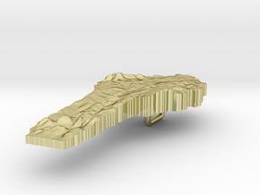 Benin Terrain Silver Pendant in 18K Gold Plated