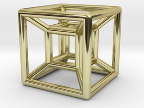 hypercube in 18K Gold Plated