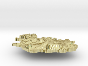 Iceland Terrain Silver Pendant in 18K Gold Plated