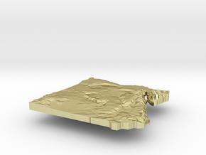 Egypt Terrain Silver Pendant in 18K Gold Plated