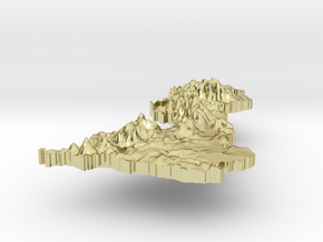United Kingdom Terrain Silver Pendant in 18K Gold Plated
