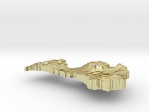 Latvia Terrain Silver Pendant in 18K Gold Plated
